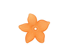 Lucite Tiger Lily 5 Petal Flower 2x20mm