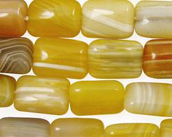 Yellow Botswana Agate Thin Pillow 14x10mm