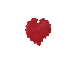 Matte Ruby Lucite Ivy Leaf 16mm