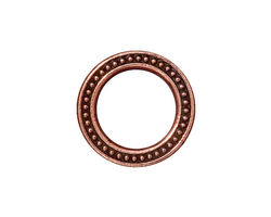 TierraCast Antique Copper (plated) Large Beaded Ring 19mm