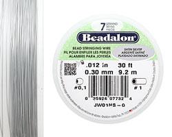 "Beadalon Satin Silver .012"" 7 Strand Wire 30ft."
