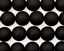 Brazil Black Stone (matte-finish) Round 10mm