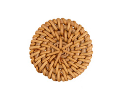 Natural Rattan-Style Woven Coin Focal 40-43mm