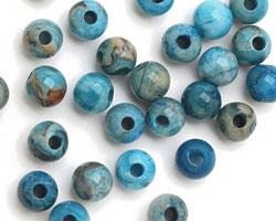 Larimar Blue Crazy Lace Agate Round (Large Hole) 8mm