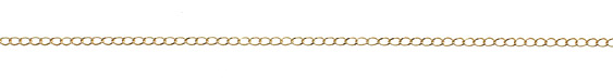 Satin Hamilton Gold (plated) Curb Chain