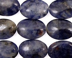 Dumortierite Flat Oval 18x13mm