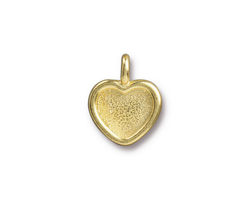 TierraCast Gold (plated) Heart Bezel Charm 13x16mm