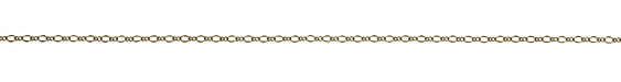 Antique Brass (plated) Figaro Chain 2mm