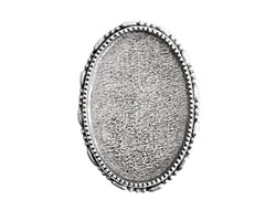 Nunn Design Antique Silver (plated) Oval Ornate Grande Brooch 32x45mm