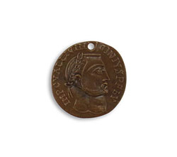 Vintaj Natural Brass Roman Laurel Coin 19.5mm