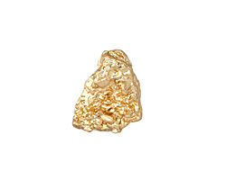 Zola Elements Matte Gold (plated) Nugget Drop 3mm Flat Cord Slide 14x18mm