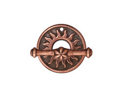 TierraCast Antique Copper (plated) Del Sol Toggle Clasp 19mm