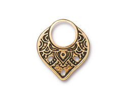 TierraCast Antique Gold (plated) Temple Ring Link 18x21mm
