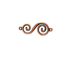 Nunn Design Antique Copper (plated) Swirl Connector 32x14mm