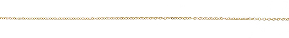 Satin Hamilton Gold (plated) Small Cable Chain (bulk discount)