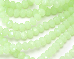 Spring Green Crystal Faceted Rondelle 6mm