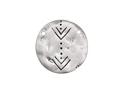 Zola Elements Antique Silver (plated) Hammered Aztec Coin Focal Link 18mm