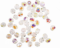 Czech Fire Polished Glass Crystal AB Round 4mm