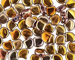 Apollo Gold Matubo Ginkgo Leaf 7.5mm Seed Bead
