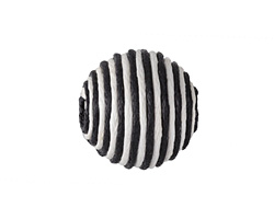 Black & White Thread Wrapped Bead 18mm
