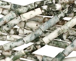 Tree Agate Tube 12-13x4mm