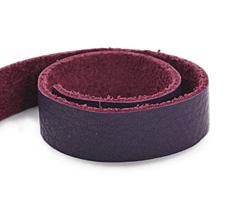 "TierraCast Purple Leather Strap 10"" x 1/2"""