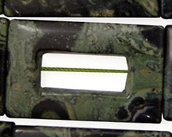 Kambaba Jasper Hollow Rectangle 40x25mm