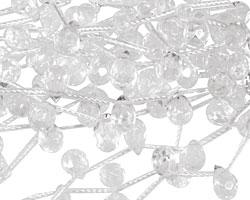 Rock Crystal Faceted Teardrop 6x9mm