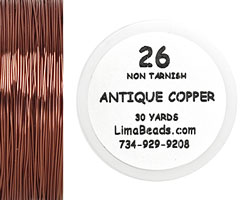 Parawire Antique Copper 26 Gauge, 30 Yards