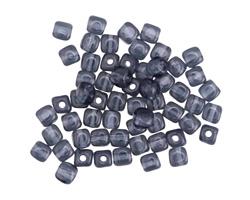 Czech Glass Montana Blue Cube 3mm