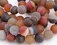Matte Multi Stone (Carnelian & Agate) Round 14mm