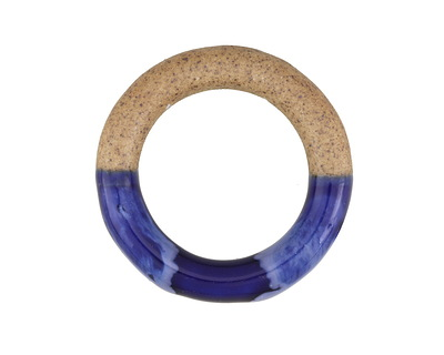 Deep Sea Half-Glazed Porcelain Ring Focal 47-50mm