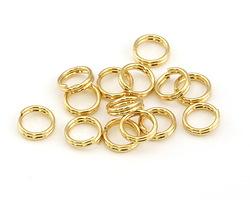 Gold (plated) Split Jump Ring 6mm, 21 gauge