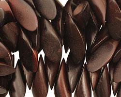 Ebony Wood Cut Horse Eye 9-10x24-26mm