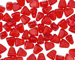 Czech Glass Siam Ruby 2-Hole Nib-Bit 5x6mm