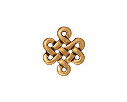 TierraCast Antique Gold (plated) Eternity Link 17x15mm
