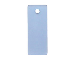 Light Sapphire Recycled Glass Bottle Curve Rectangle 14x35mm
