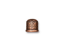 TierraCast Antique Copper (plated) Temple 6mm Cord End 9x9mm