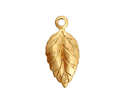 Brass Ivy Leaf Charm 12x26mm