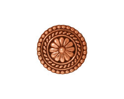 TierraCast Antique Copper (plated) Bali Button 18mm