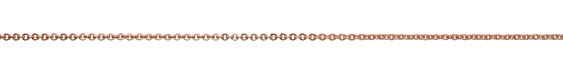 Rose Gold (plated) Etched Cable Chain