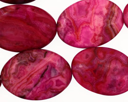 Ruby Crazy Lace Agate Flat Oval 25x18mm