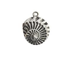 Nunn Design Antique Silver (plated) Nautilus Pendant 22x28mm