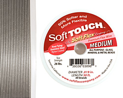 """Soft Touch Premium Clear .019"""" (Medium) 49 Strand Wire 30ft."""
