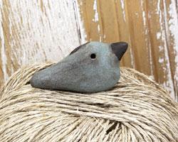 MAKUstudio Raku Patina Bird Focal Bead (piece #3) 36x18mm