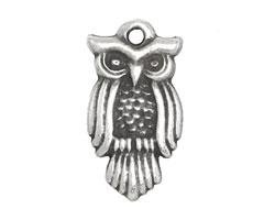 Greek Pewter Large Owl Charm 15x29mm