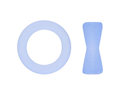 Light Sapphire Recycled Glass Toggle Clasp 23mm, 22mm Bar