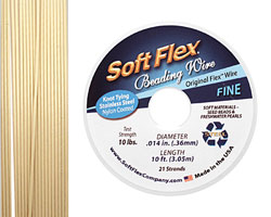 "Soft Flex Bone .014"" (Fine) 21 Strand Wire 10ft."