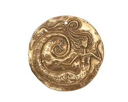 Green Girl Bronze Floating Mermaid Coin 25-30mm