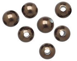 Chocolate Shell Pearl Round (large hole) 10mm